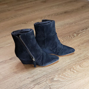 Nine West Suede Leather Black Boots